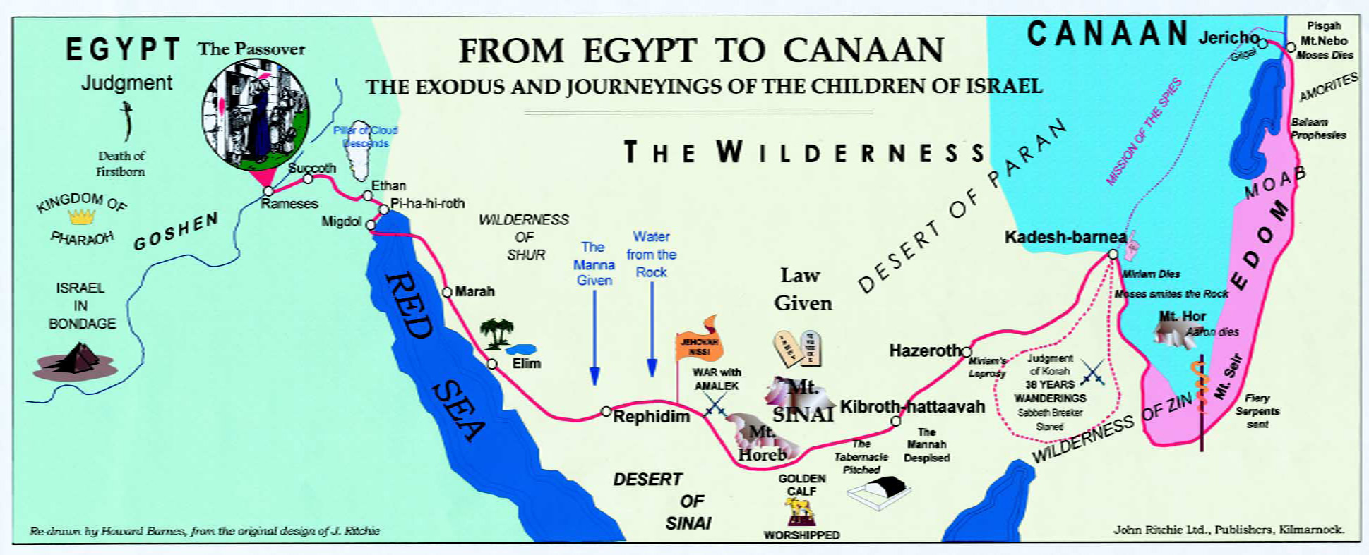 Notebook The March Of The Tribes Believers Magazine - Map of egypt canaan