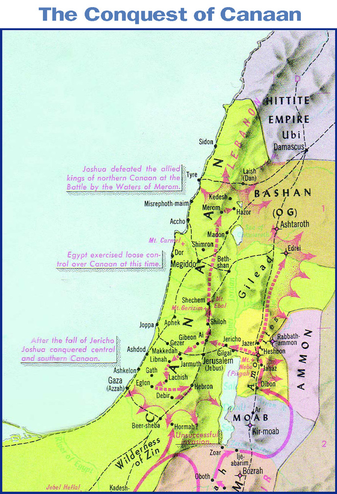 Image result for map of the book of Joshua